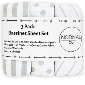 Nodnal Co. Bassinet Fitted Sheet Set 3