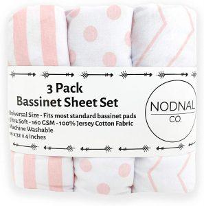 Nodnal Co. Pink Bassinet