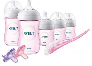 Philip Avent Natural Pink Bottle Set