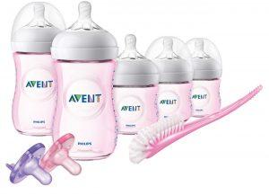 Philip Avent Natural Pink Bottle Set