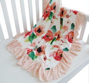 Sahaler Floral Minky Blanket