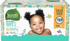 Seventh Generation Unscented Baby Wipes