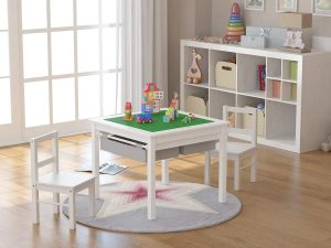 Utex Kids 2-in-1 Activity Table & 2 Chairs