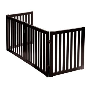 Welland Free Standing Foldable Wooden Baby Gate