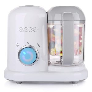 White Compact Baby Food Maker From Minne Brand