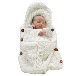 XMWealthy Newborn Knit Swaddle Blanket