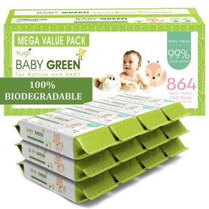 YuGi Baby Green Baby Wipes Unscented